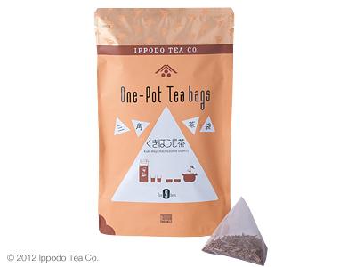一保堂茶舗の三角茶袋「くきほうじ茶」